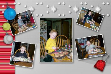 Dylan making Christmas Cookies